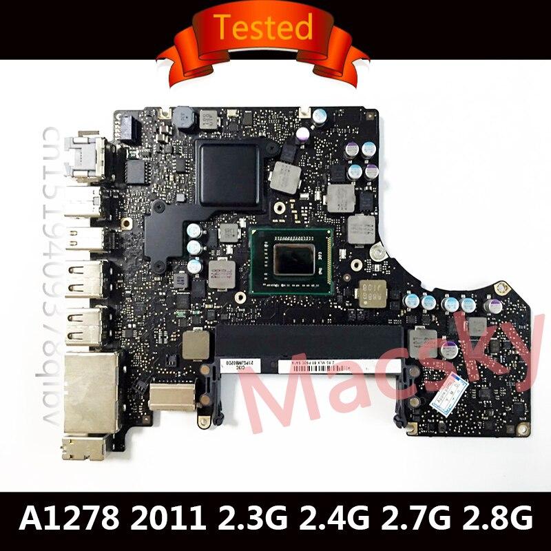 Testé A1278 carte mère pour Macbook Pro 13 2011 carte mère ordinateur portable i5 2.3GHz 2.4GHz i7 2.7GHz 2.8GHz 820-2936-A 820-2936-B