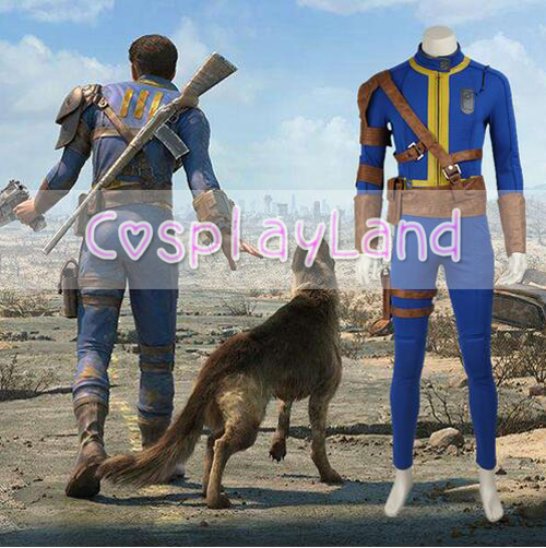 Fallout 4 Nate Cosplay Costume Game Sole Survivor Suit For Halloween Party Adult Men Cosplay Custom Made Outfit Free Shipping