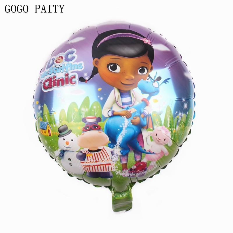 GOGO PAITY Free Shipping Cartoon Small Doctor Round Aluminum Balloon Festival Party Decorative Toys Wholesale