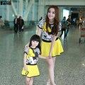 De la familia Establece Madre Hija Trajes de Moda de Verano de Manga Corta Minnie Carácter Impreso T-shirt Falda Conjuntos de Ropa