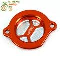 ЧПУ Алюминиевых заготовок Orange Масляный Фильтр Крышка Для KTM SXF EXC-F XC-F EXC-R SMR XC XC-W SXS 250 400 450 520 525 540 950 990 ADV