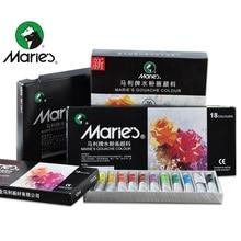 Marie's 12/18/24/36Colors Gouache Painting Paint Set High Quality Transparent 12ML Gouache Pigment For Artist School Student