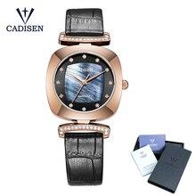 Cadisen 2018 ファッションの高級ブランドの腕時計の革クォーツ女性腕時計時間 montre のファムレロジオ feminino ステンレス鋼腕時計