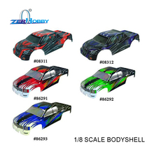 RC CAR BODY SHELL FOR HSP 1/8 SAVAGERY MONSTER TRUCK MODEL 94862  (part no. 08311, 08312, 86291, 86292, 86293)