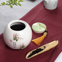 Chinese painting Environmental protection Ceramic Jars,Sealed sugar Coffee beans food Tea caddy Storage Bottles and Jars