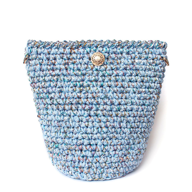 19x16CM   Limited Edition Handmade Summer Shiny Bucket Bag  Bling Blue A2936 new mf8 eitan s star icosaix radiolarian puzzle magic cube black and primary limited edition very challenging welcome to buy