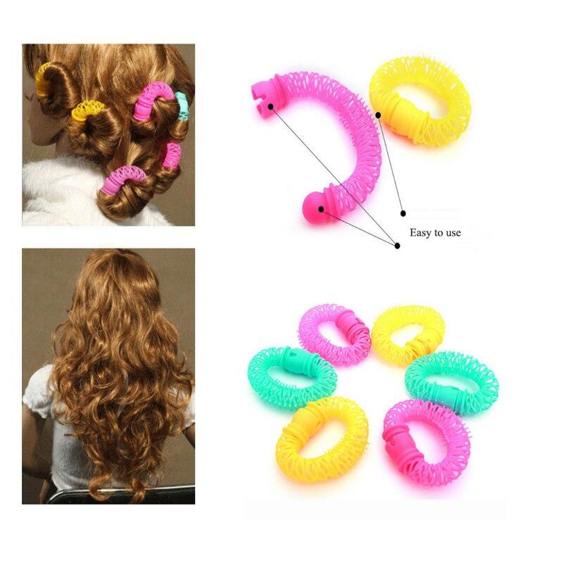 Hair Rollers Curling Iron Wand Magic Doughnut Donut Hair Curler Set DIY Plastics Curlers Professional Hair