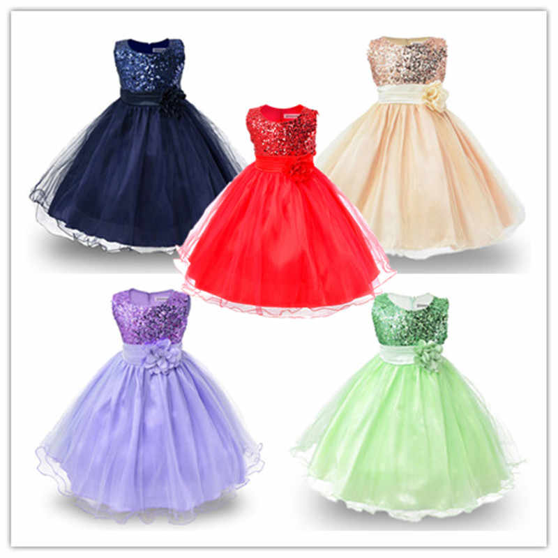41a1cea2c ... 2019 Girls Dresses For Birthday Baby Girl 3-10 yrs Christmas Outfits  Children Girls Sequins ...