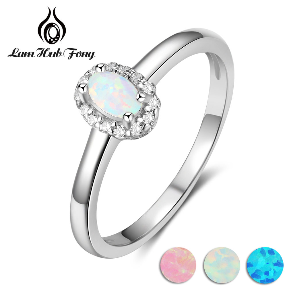 Women 925 Sterling Silver Rings Created Oval Blue Pink White Fire Opal Ring with Zircon Romantic Gift 6 7 8 Size (Lam Hub Fong)Women 925 Sterling Silver Rings Created Oval Blue Pink White Fire Opal Ring with Zircon Romantic Gift 6 7 8 Size (Lam Hub Fong)