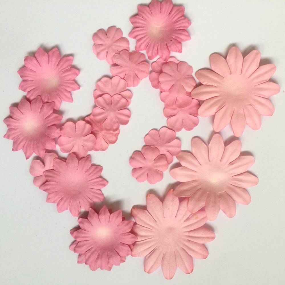 Online buy wholesale paper flower petals from china paper flower china scrapbook embellishents wholesale paper flowers mix style paper petals pink paper petals dhlflorist Image collections