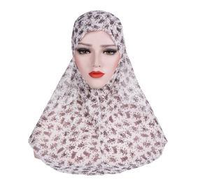 Image 3 - One Piece Amira Women Muslim Hijab Niquabs Scarf Islamic Headwear Shawls Headwraps Hat Full Cover Headscarf Prinrt Middle East
