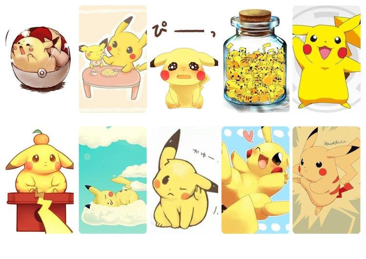US $2 69 15% OFF|10pcs/L Animation Pokemon GO Pikachu Credit Card Stickers  iPhone App Game Stickers, Wall Stickers for Credit Card-in Wall Stickers