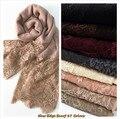 2015 мода кружева шарфы зима/осень shaws soild элегантные леди простые цветы высокого качества мягкий 15 цветов хлопка и вискоза