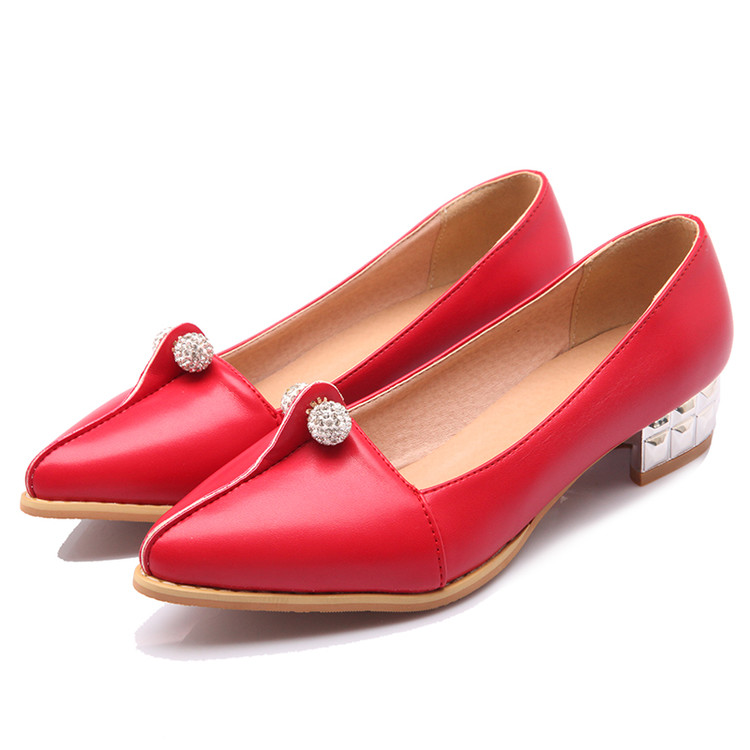 Large Size 34-47 Women's Fashion Shoes Woman Flats Spring Shoes Female Ballet Shoes Metal Pointed Toe Solid Casual Shoes Q1 memunia 2017 fashion flock spring autumn single shoes women flats shoes solid pointed toe college style big size 34 47