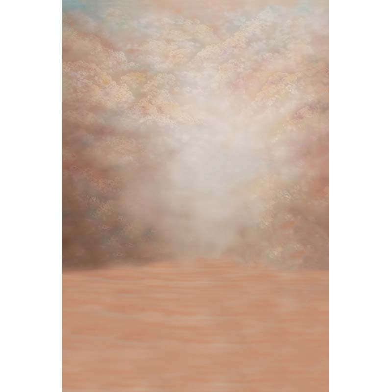 Customize vinyl cloth pink fantasy hand painted style photo backgrounds for newborn photography studio backdrops CM-2873