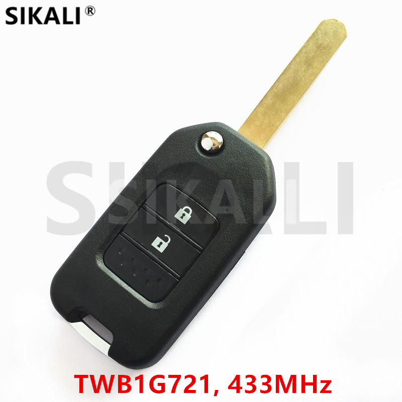 SIKALI Remote Key for Honda Accord Civic City CR-V Jazz XR-V Vezel HR-V FRV Car 433Mhz Part Number TWB1G721