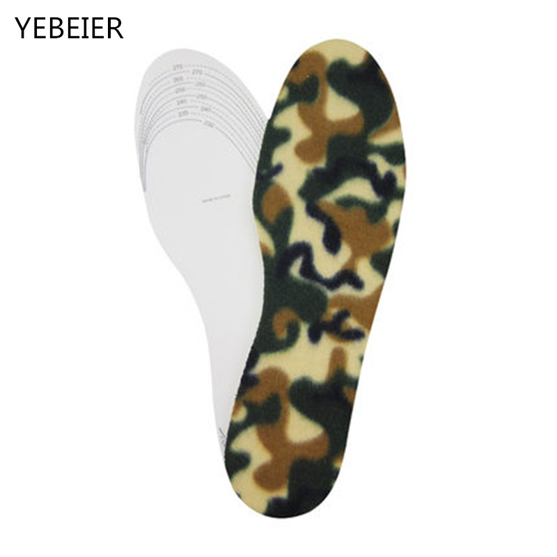 цена на The camouflage surface white base Winter Warm Soft Wool Winter Shoes Insoles Pad Size 35-45 for Man/woman