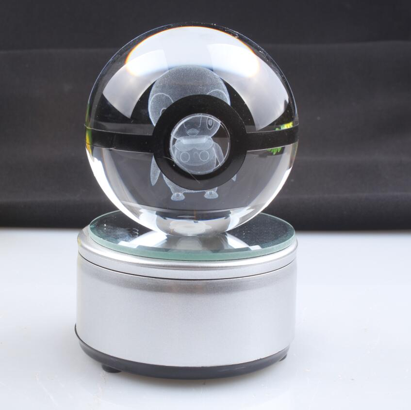 Good Crystal 3d Laser Piplup Pokemon Design With Led Light For Gift Pokemon Go Crystal