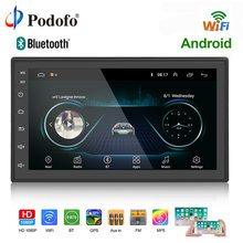 "Podofo 2 Rádio Do Carro um din GPS Autoradio Android Wi-fi USB Audio 2din 7 ""Touch Screen Universal MP5 Players Multimídia do bluetooth FM(China)"
