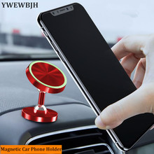 YWEWBJH Luminous High grade Magnetic Car Phone Holder Stand For iphone X 8 7 Samsung S9 Air Vent GPS Universal