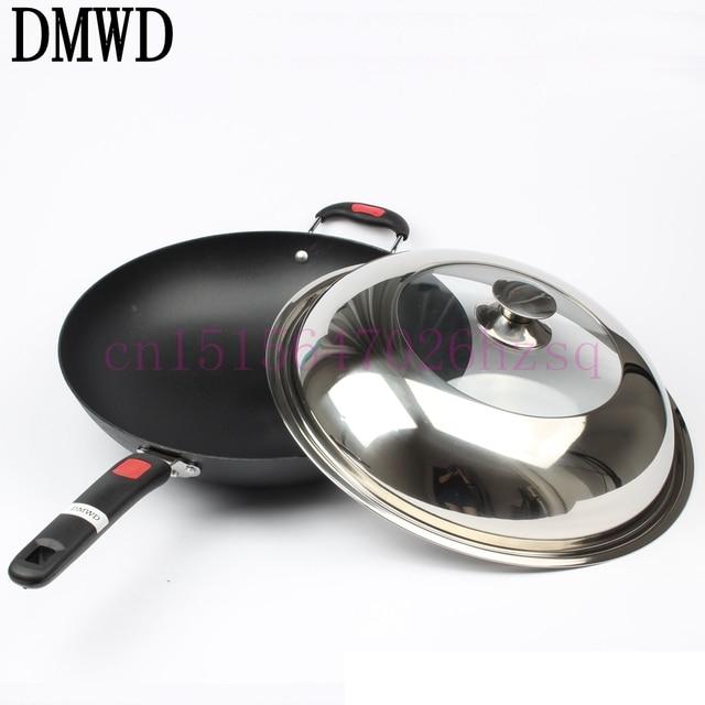 DMWD Ghisa pentola di ferro Pentola per Concava elettromagnetica ...