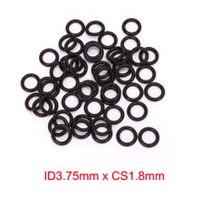 ID3.75mm x CS1.8mm black nitrile NBR rubber o ring sealing oil resistant gasket 10pcs oil resistant nbr nitrile butadiene rubber 2mm o ring sealing ring 18 5 28 3mm mechanical seal dichting rubber ring orings