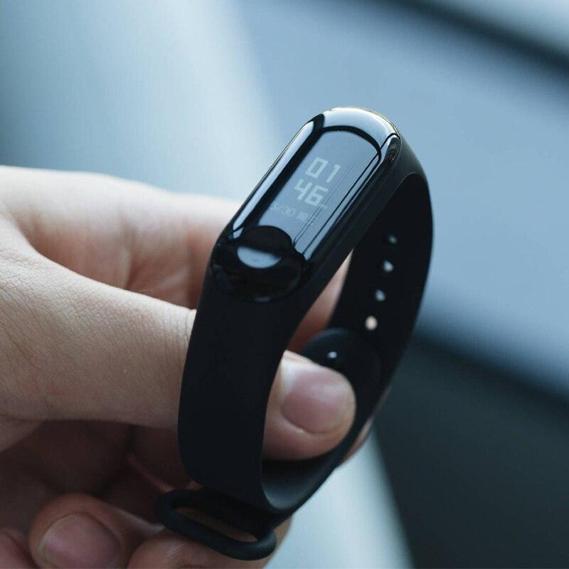 Original Xiao mi mi bracelet 3 bracelet intelligent Fitness mi bande 3 grand écran tactile OLED Message fréquence cardiaque temps Smartband - 4