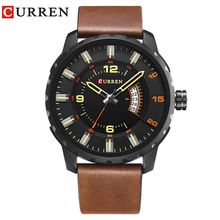 CURREN 2019 New Men's Watch Strap Fashion Casual Business Complete Calendar Black Relogio Masculino Creative Surface Time Clock все цены