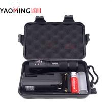 100% подлинная G700 3800LM CREE XM-L T6 LED 10 Вт Масштабируемые Тактический Фонарик Наружное освещение + 18650 аккумулятор + зарядное устройство + подарочная коробка Факел