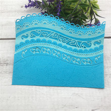 Hot Sale Vintage Lace Embrossing Curved Wavy Border Metal Cutting Dies Scrapbooking Embossing Paper Card Making DIY Cards