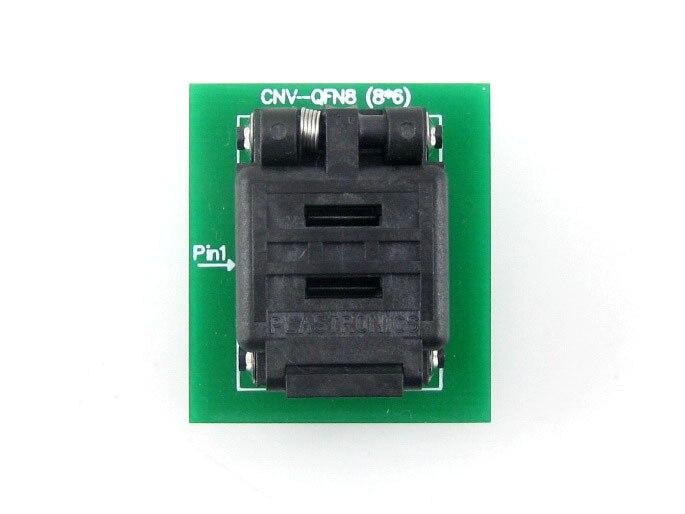 QFN8 à DIP8 (C) QFN8 MLP8 MLF8 Plastronics 08TN13A18060 IC Test adaptateur de programmation de prise de gravure pas de 1.3mm - 3