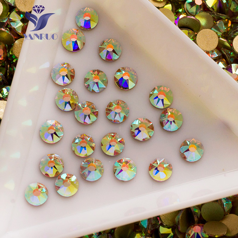 Top 2088 8 big 8 Small SS16 SS20 SS30 Crystal And AB Nail Art Rhinestones Non Hot Fix Rhinestones Stone For Clothes
