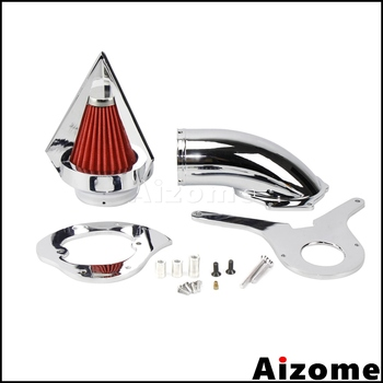 Chrome Motorcycle Aluminum Cone Spike Air Cleaner Kit Washable Intake Air Filter For Honda Shadow Aero 750