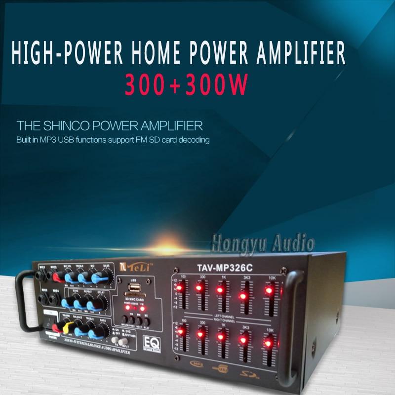 220V Bluetooth Kara OK High Power EQ Equalizer Card Amplifier Radio Sound KTV Stage набор для настройки звука zebra ktv ok