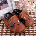 New Cartoon Dog Baby Moccasins Genuine Leather Bebe newborn Non-slip Indoor baby shoes First Walkers Free shipping