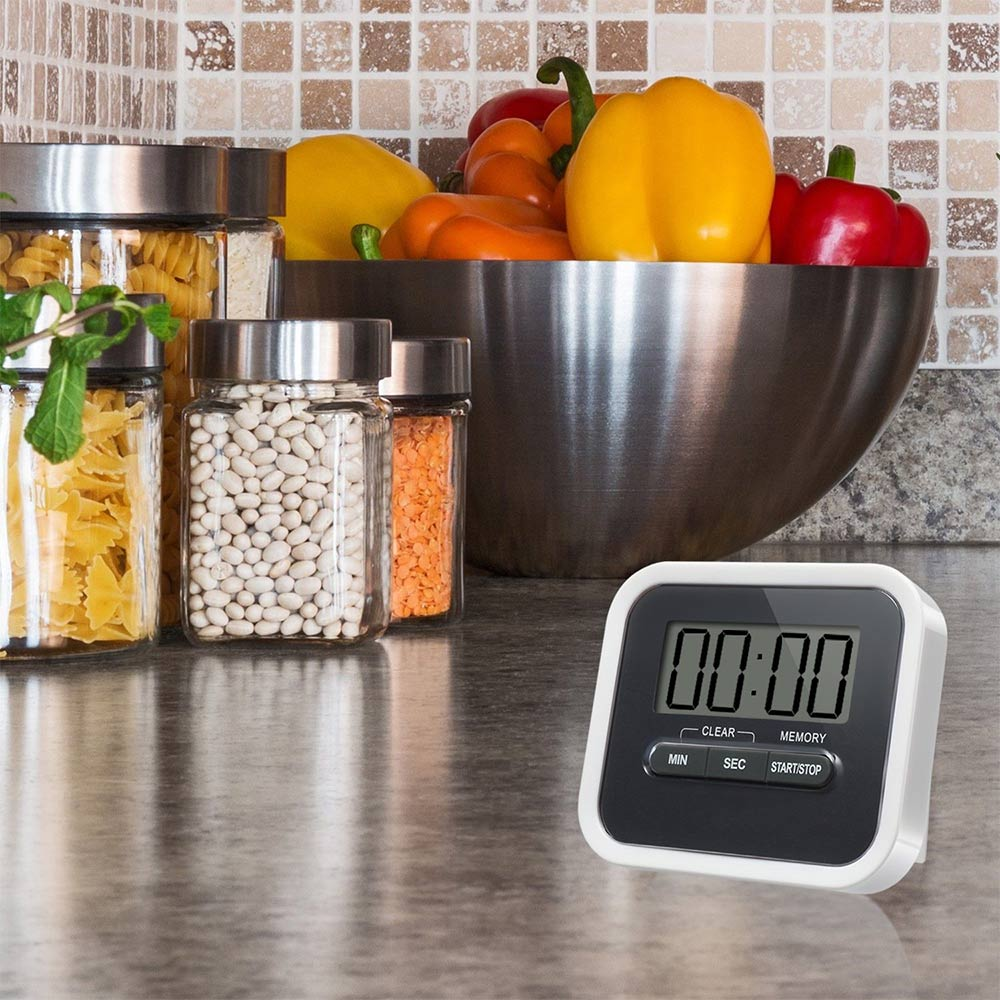 Digital Timer Solar Power Magnetic Portable Loud Alarm For Kitchen Cooking Baking Best Price