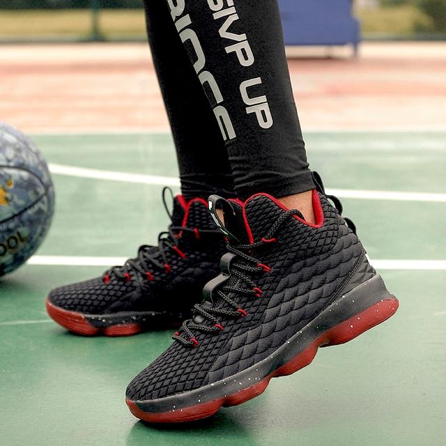 BomKinta 45 Grande Tamanho Das Sapatilhas Das Mulheres High Top Basketball Shoes Men Sport Shoes New Design de Ouro PU Couro Zapatillas Alta qualidade