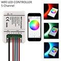 16 Миллионов цветов Wi-Fi RGB led контроллер мини 5 канала RGB/WW/CW светодиодный контроллер управления смартфон музыка таймер пульта led rgb