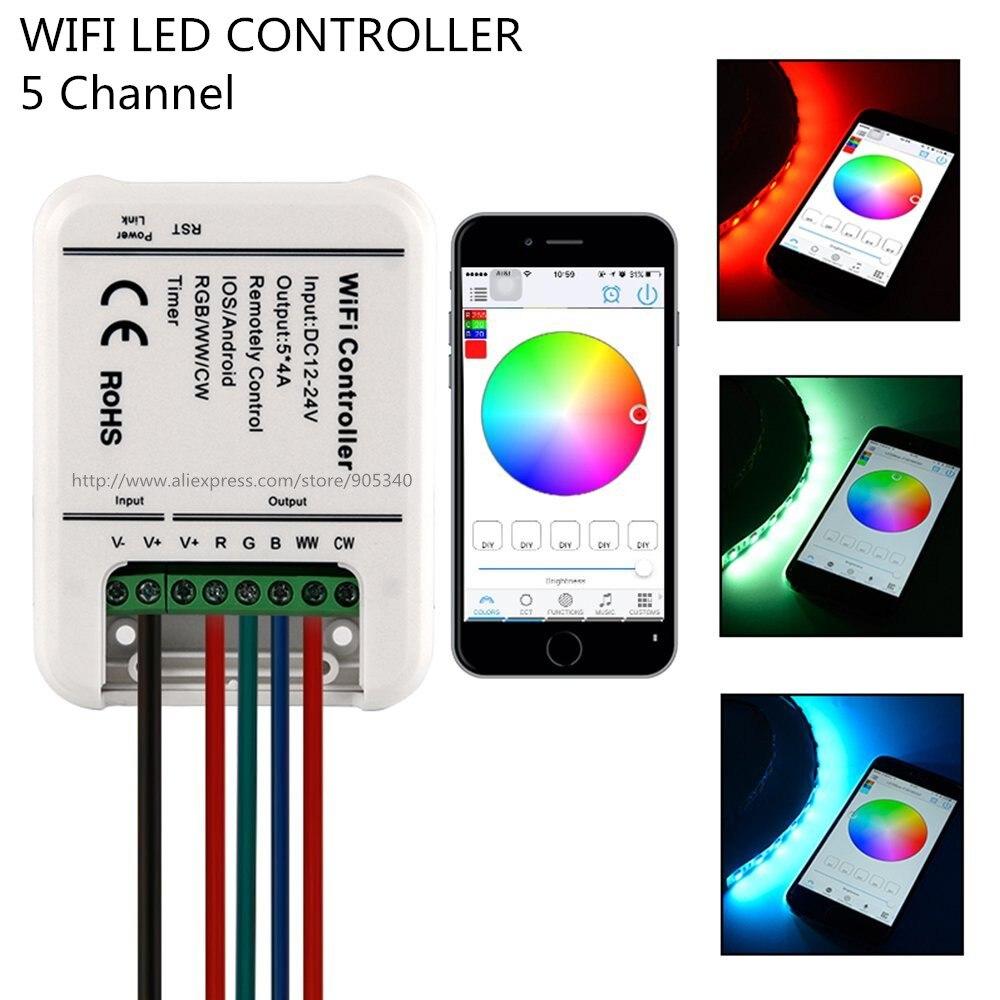 16million colors wifi rgb led controller mini 5channels rgb ww cw led controller smartphone. Black Bedroom Furniture Sets. Home Design Ideas