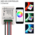 16Million colors Wifi RGB led controller mini 5channels RGB/WW/CW led controller smartphone control music timer controle led rgb