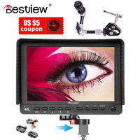 Bestview S7 4K 7 inch 1920*1200 HDMI HD High quality video camera monitor for shooting video TFT field and magic arm crab clamp