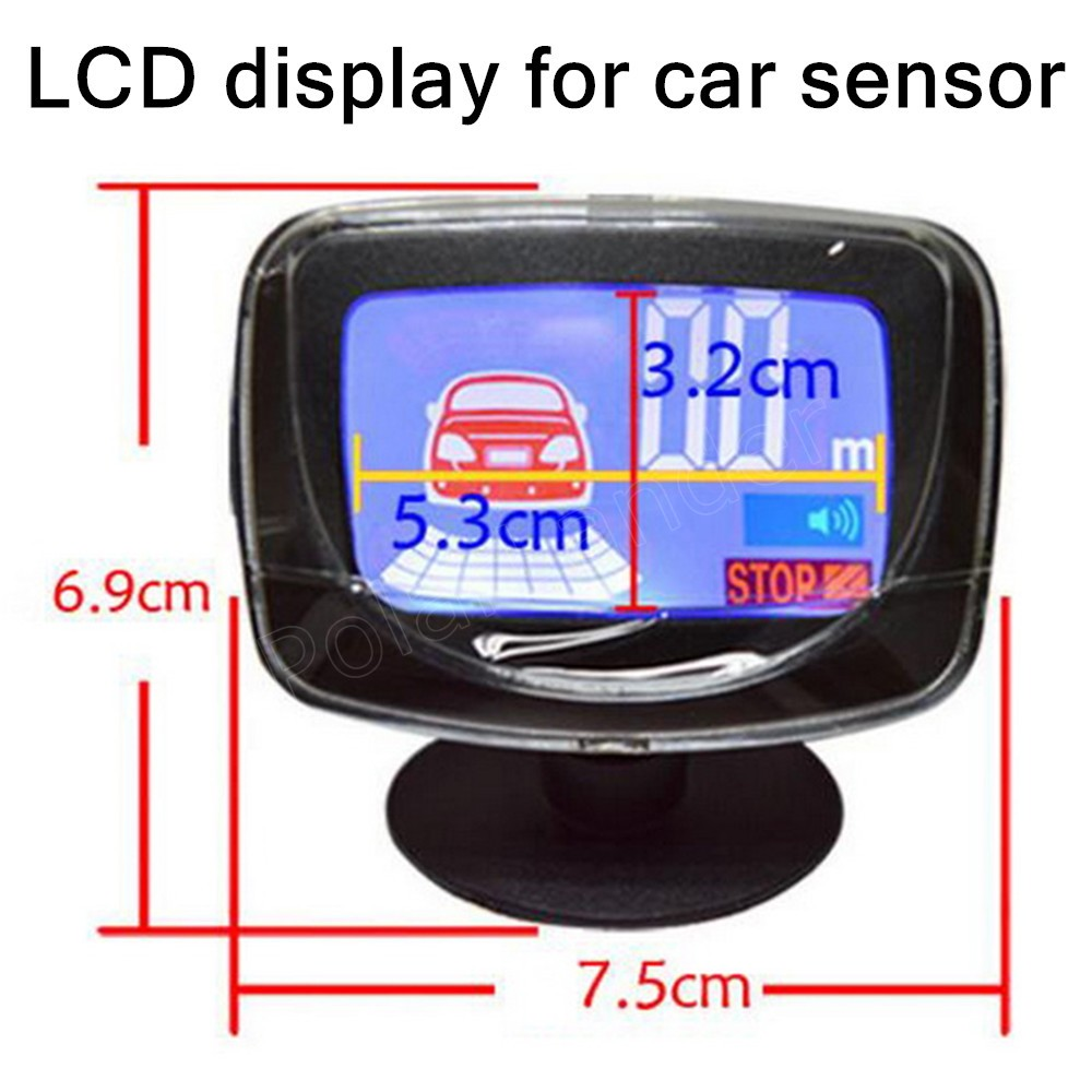 Car Parking Sensor Reverse Backup Radar LCD Display 12V for car sensor Detector System best selling radar accessory
