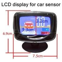 Araba Park Sensörü geri park etme radarı lcd ekran 12 V araba için sensör dedektörü Sistemi en çok satan radar aksesuarı