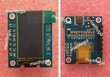 Maithoga 0.96 polegadas 7 p i2c spi branco oled módulo de tela vertical ssd1107 drive ic 64*128