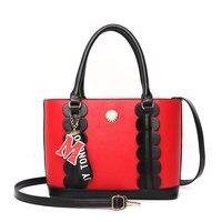 Solid Big Capacity Fashion Ladies Handbag Bucket Women Shoulder Bag 2018 Summer Solid Zipper Women's Bag