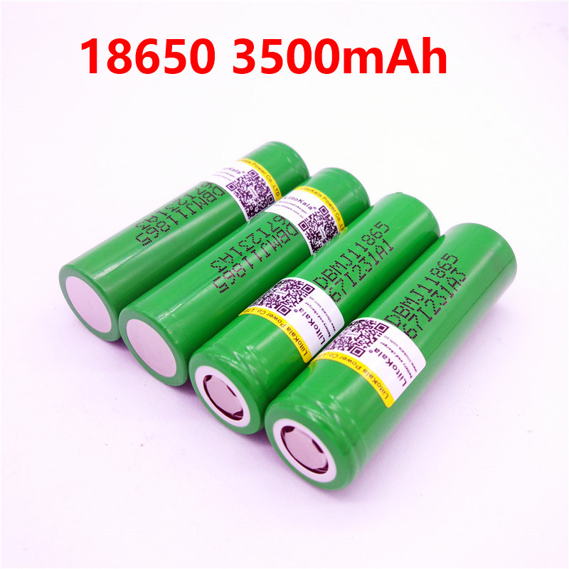 New LiitoKala for LG MJ1 18650 INR18650MJ1 10A discharge li-ion battery cell 3500mah INR18650MJ1 batteries 2pcs new original lg hg2 18650 battery 3000 mah 18650 battery 3 6 v discharge 20a dedicated electronic cigarette battery power