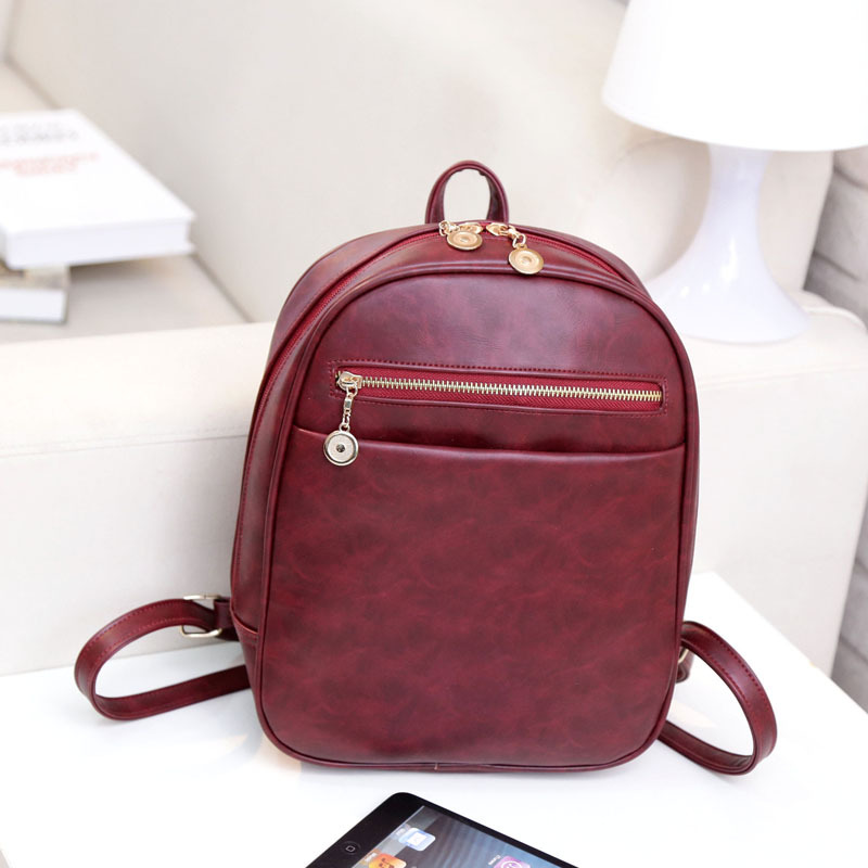 2016 New Arrive vintage backpacks women small female PU backpack school bag women preppy style shoulder bags mochila feminina