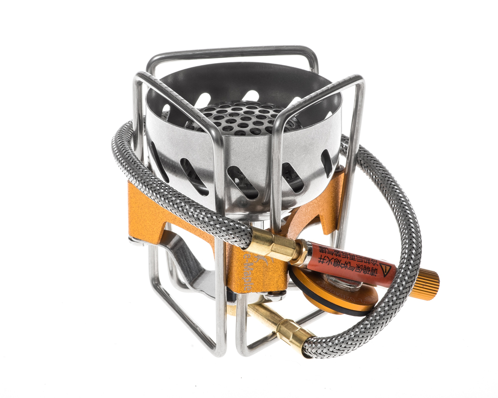 1 Pc feu érable FWS-02 coupe-vent extérieur Camping ultraléger Split cuisinière à gaz tête - 4