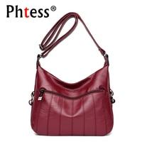 2018 Women Vintage Messenger Bags High Quality Pu Leather Female Shoulder Bags Sac Femme Ladies Crossbody