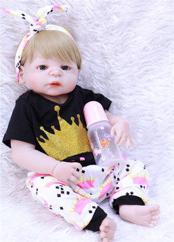 "Lifelike reborn babies dolls 22""55cm full silicone reborn baby dolls for child bebe gift reborn bonecas"